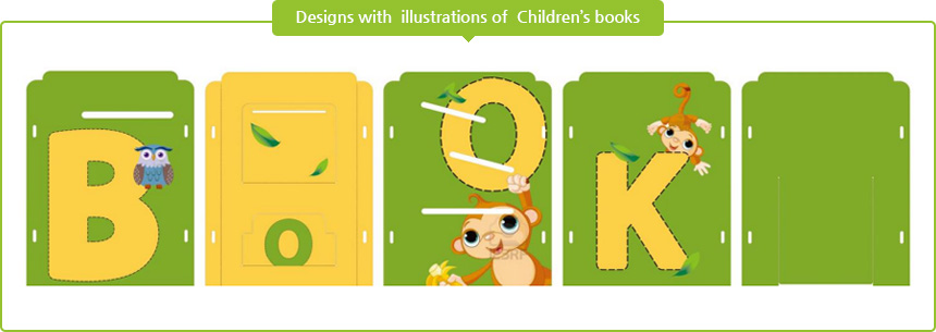 Designs with  illustrations of  Children's books